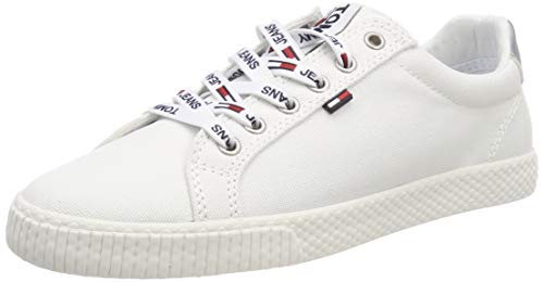 Tommy Hilfiger Tommy Jeans Casual Sneaker, Zapatillas Mujer, Blanco (White 100), 37 EU