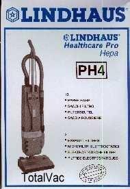 SACCHETTO CARTA PH4 ASPIRAPOLVERE LINDHAUS ORIGINALE, SCAT. 10 PEZZI