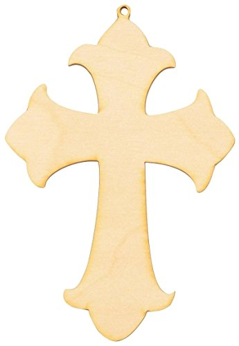 Woodcrafter Wooden Cross Cutout 7 x 4.75 / Package of 10 Made in The USA