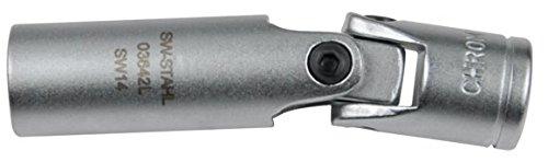 SW-Stahl kerzenschlüssel 14 mm, cardan 3/8, 03642L