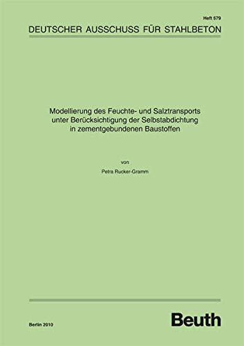 Modellierung des Feuchte- und Salztransports unter Berücksichtigung der Selbstabdichtung in zementgebundenen Baustoffen (DAfStb-Heft)