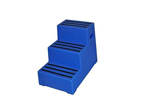 """Aufstiegshilfe """"Exklusiv"""" mit 3 Stufen. Blau"""