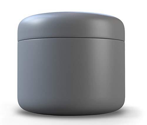 JCASE Stabile Stash Metall Dose I Luftdicht I Wasserdicht I ø55x46mm I UV Licht geschützte Box für Pillen, Kräuter und Gewürze (Grey)