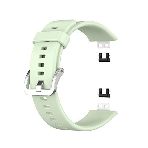 Correa de reloj de silicona deportiva suave y transpirable, repuesto de silicona suave, deportiva, correa de repuesto para reloj inteligente para mujeres y hombres, compatible con Huawei Watch