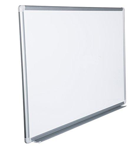 Whiteboard Magnettafel mit Alurahmen und großer Stiftablage, in 16 Größen, schutzlackiert magnethaftend, mit Montagematerial. Fachhandelsqualität. Größe:180x100 cm