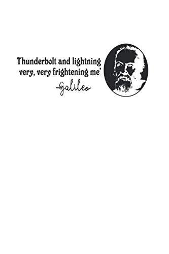 Notizbuch: Galileo Zitat Thunderbolt Lightning Nerd Geschenk 120 Seiten, 6X9 (Ca. A5), Karomuster