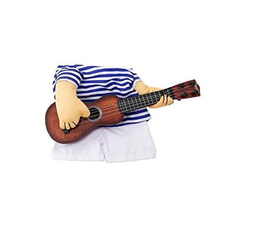 ARMAC - Disfraz de gato y perro para mascotas, disfraz de cosplay para guitarrista, disfraz de conversin divertido gato jugando guitarra primera conversin vertical traje