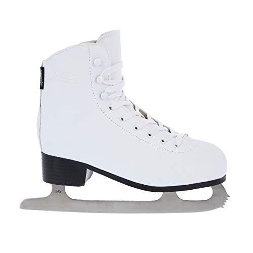 Schlittschuhe Eiskunstlauf # Kunstlauf Eiskunstlaufschuhe gefüttert Klassisch EIS Sport Eislaufen Damen & Herren NF8565 (Weiß, 41)