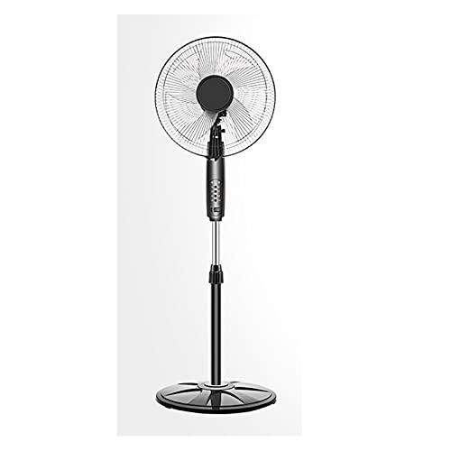 Ventilador eléctrico de base oscilante refrigerado por aire, modelo de control remoto con ventilador de piso ajustable y expandible, ventilador silencioso y de bajo ruido (Color : 1)