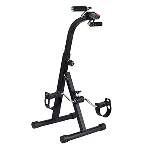 ZBQLKM Dispositivo de entrenamiento superior e inferior, equipo de fitness de pedal, dispositivo de entrenamiento de bicicletas con 5 niveles de altura ajustable & HD LED Reloj electrónico, for fitnes