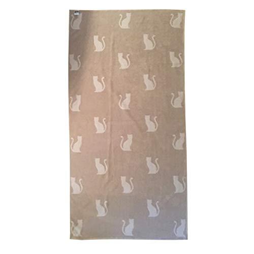 Strandtuch aus Frottee-Jacquard, 100 % Baumwolle, 90 x 180 cm, Motiv Katzen