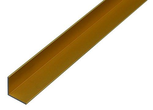 GAH-Alberts 473594 Winkelprofil aus Aluminium, 1000 x 30 x 30 mm, goldfarbig eloxiert