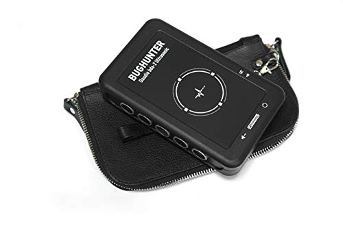 Covert Silent Ultrasonic Microphone Anti-Spy Recording Suppressor Blocker with Leather Clutch