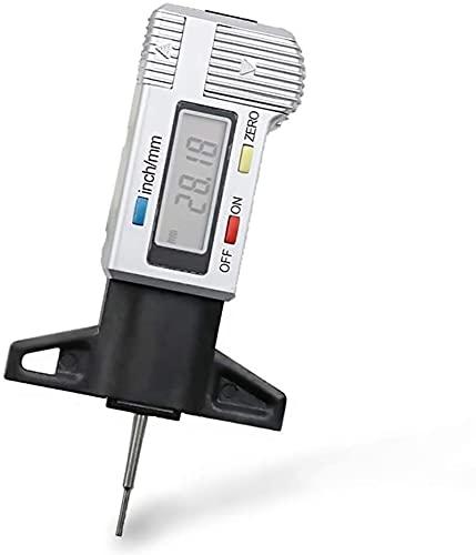TONG Pantalla Digital de Alta precisión Portada de pisada de pisada Auto Neumático Desmontaje Detección electrónica Vernier Calibrador con Herramienta de medición de Escala Inspección en Profundidad