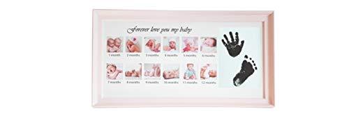 Marco de fotos con huellas para bebés bebés