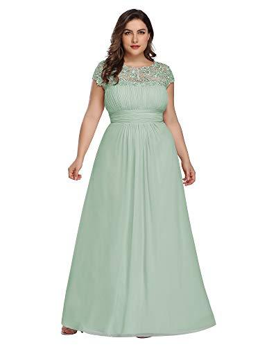 Ever-Pretty Womens Plus Size Floor-Length Black Tie Evening Party Dresses Mint US 22
