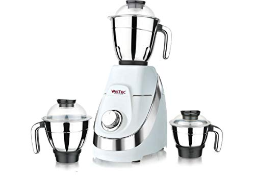 Wistec 750 Watt Mixer Grinder Juicer with 100% Pure Copper Motor and...