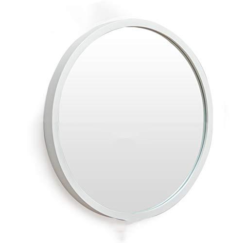 Stickers muraux Miroir suspendu Nordic Salle de bains Épaissir le miroir Miroir Miroir Miroir de salle de bains Miroir Tenture Toilette Salle de bains Miroir Rond Blanc Diamètre 48cm