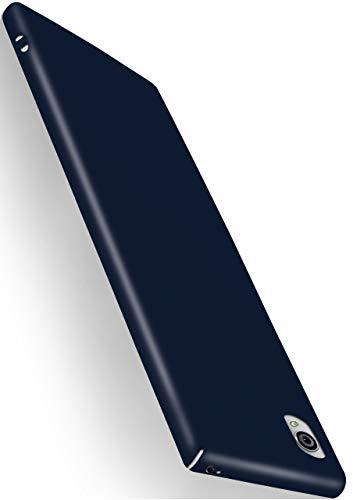 moex Alpha Hülle kompatibel mit Sony Xperia Z5 - Hülle Ultra dünn, Handyhülle aus Hartplastik, Schutzhülle matt Hardcase, Navy Blau