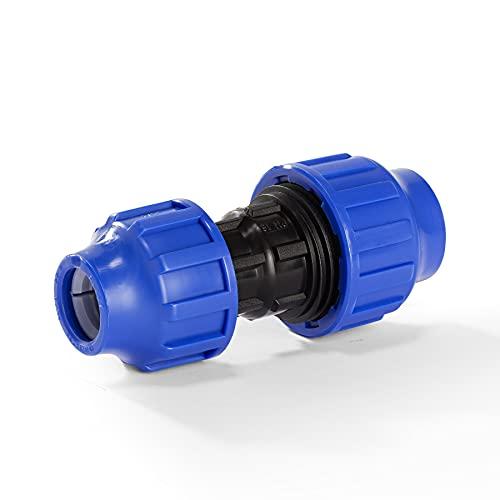 H2O-Flex PP-Fitting, Klemmverbinder - Kupplung reduziert für PE-Rohr, 25-20 mm, DVGW