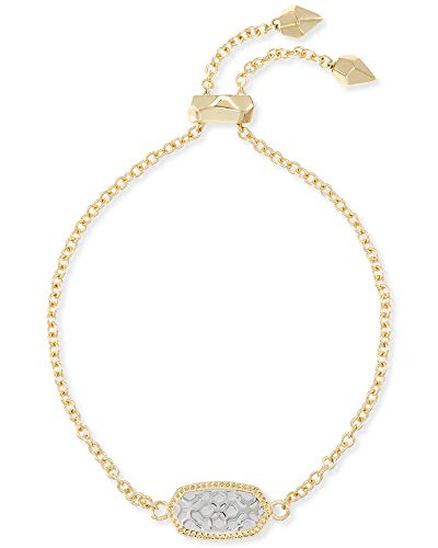 Kendra Scott Elaina Link Chain Bracelet for Women, Dainty Fashion Jewelry, 14k Rose Gold-Plated, Ivory Mother of Pearl
