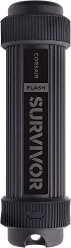 Corsair Flash Survivor Stealth, 1TB USB 3.0 Speicherstick (harteloxiertes Flugzeugaluminium, extreme Langlebigkeit, EPDM-Wasserdicht bis 200 Meter, mit Stoßdämpfung) Schwarz
