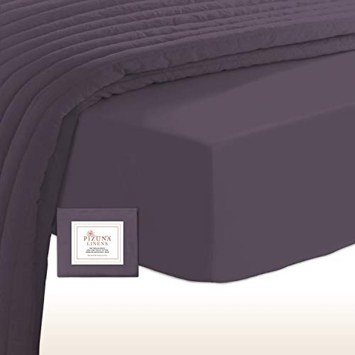 400 Thread Count Cotton Fitted Sheets Super King Vintage Violet, 100% Long...