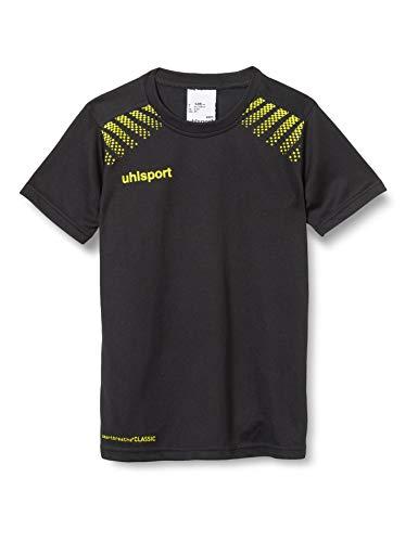 uhlsport Herren Goal Polyester Training T-Shirt, Schwarz/Limonengelb, 164