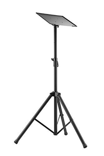 VALUE Höhenverstellbares Dreibein-Stativ | schwarz | Stufenlos höhenverstellbar | Stativ | 90° schwenkbare VESA-Platte | für Notebook, Laptop oder Beamer | für Präsentationen