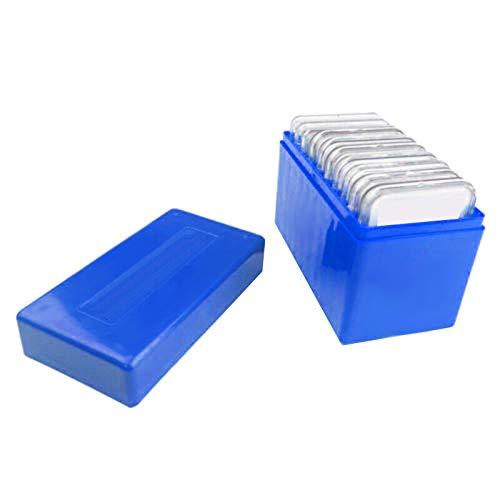 OVBBESS Caja de almacenamiento de losa de plástico cuadrado de 10 monedas de capacidad para PCCB NGC PCGS