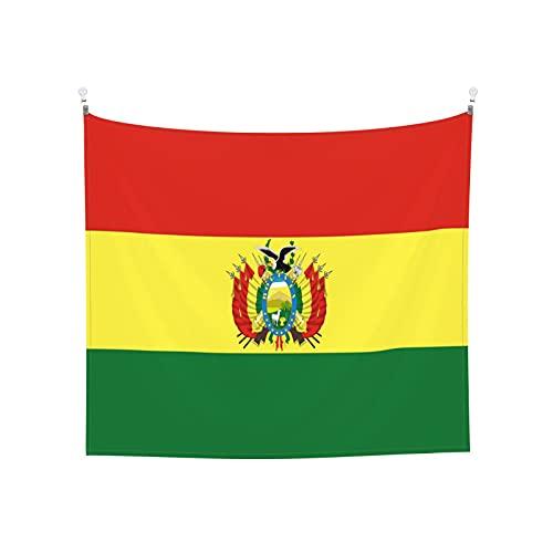 Tapisserie Flaggen von Bolivien Wandbehang Tarot-Tarot Boho Beliebte Mystic Trippy Yoga Hippie Wandteppiche für Wohnzimmer Schlafzimmer Wohnheim Heimdekor Schwarz & Weiß Stranddecke
