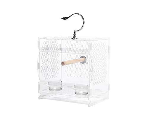 Z-W-DONG Gabbie acrilico Parrot, Balcone Soggiorno Voliere trasparente Gabbie for uccelli portatili - possono osservare gli uccelli in qualunque momento Uccelli/Gabbie ( Size : 23*24*16CM )