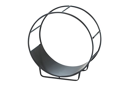 Kobolo Kaminholzständer Holztrage Circle Metall schwarz