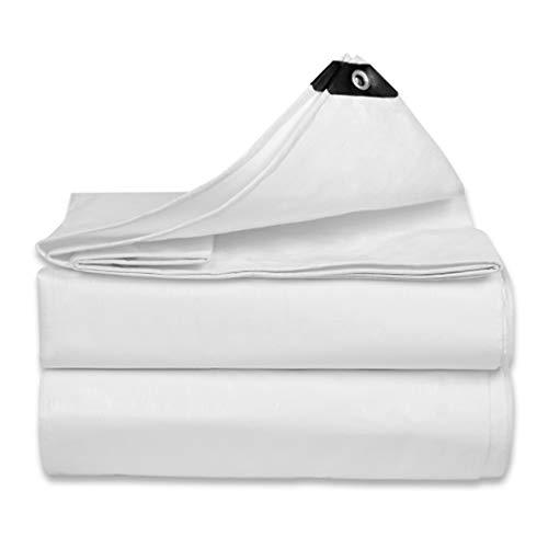 Universal Tarp cover Heavy Duty Waterproof White Tarpaulin Multi-Purpose Dustproof Rainproof Cover Sunshades Depot Great Tent (0.32MM Thick,180g/m²)