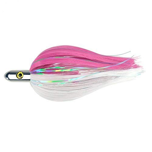 """OCEAN CAT 7 inches Ilander Style Saltwater Trolling Lure, Ilander Tracker Fishing Lures with Flashers, for Sailfish, Dolphin, Mackerel, Wahoo and More (7""""-Pink)"""