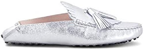 Tod& 039;s - Slip-on Gommino Silber metallic Finish Leather - XXW00G0X070MECB200