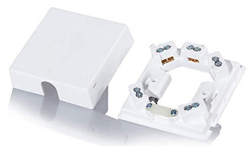 Herdanschlussdose weiss 80x80x25mm, 5 Klemmen (2 Stück)