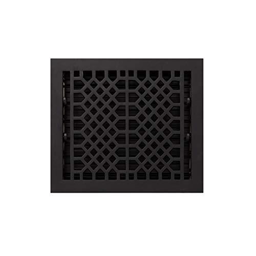 Signature Hardware 929151-12-14 Antique Style Cast Iron Floor Register - 12' x 14' (14-1/4' x 15-3/8' Overall)