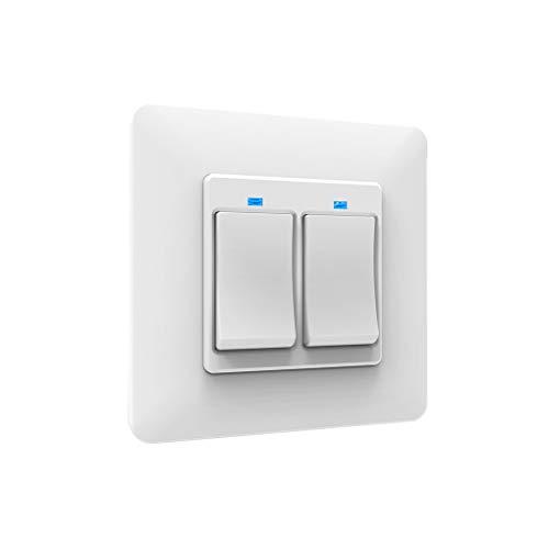 Yihaifu WiFi Wireless Pared Interruptor de la luz del Interruptor eléctrico de Pared de Cortina ciega Interruptor de Control Remoto estándar de la UE, de 2 Alturas