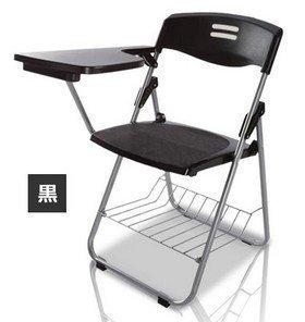 COM-SHOT 【 サイド テーブル 付き チェア 】 折り畳み 式 一体型 椅子 足元 収納 アウトドア 会議 自宅 介護 MI-CHAIRBLE (ブラック)