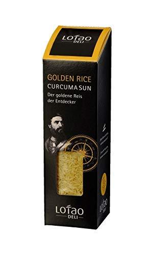 Lotao CURCUMA SUN gelb goldener Kurkuma Reis (Bio Qualität) der Entdecker | Bio KURKUMA Vollkornreis | nachhaltig, vegan & hochwertig | 1x 300g