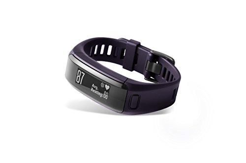 Garmin Vívosmart HR - pulsera de actividad con pulsómetro integrado Garmin Elevate, color púrpura, talla normal