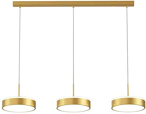 Liiokiy Luces Redondas Regulables Luces Colgantes de Altura metálica luz Ajustable lámpara Colgante de Techo Accesorio Metal Colgante Ligero lámparas Colgante luz led 36w Colgante luz luz Luces