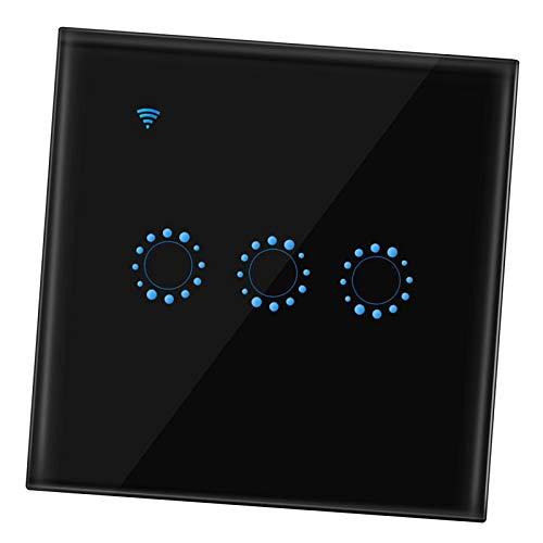 Baoblaze Interruptor de pared de luz de ventilador de techo inteligente WiFi, temporizador remoto de aplicación y contrapeso, Alexa y Compatible con - 3 banda