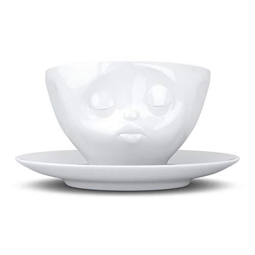 FiftyEight T014201 Kaffee-Tasse küssend Hartporzellan 200 ml, weiß