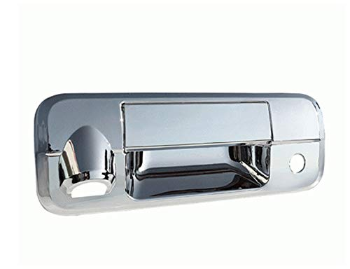 QAA fits 2007-2013 Toyota Tundra 2 Piece Chrome Plated ABS Plastic Tailgate Handle Cover Kit, Includes Camera Access DH27149