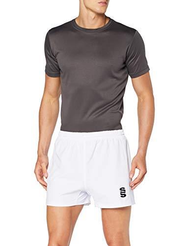 Surridge Sports Rugby Pantalones Cortos, Hombre, Blanco, L