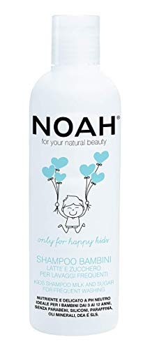 NOAH Kids Detangling Shampoo with Milk Protein & Sugar for Frequent...