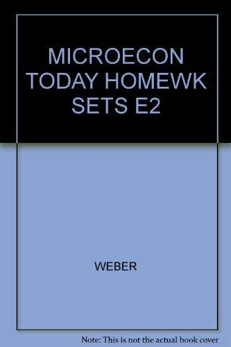 Homework Sets for Microeconomics for Today