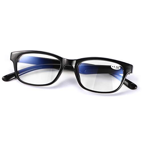 Multifocal Progresivo Gafas de Lectura Hombres Mujeres Computer Filtro de luz Azul de enfoque múltiple Presbicia Inteligente Anteojos Retro de Ligero Marco Cómodos sin línea Lectores Antirreflejos
